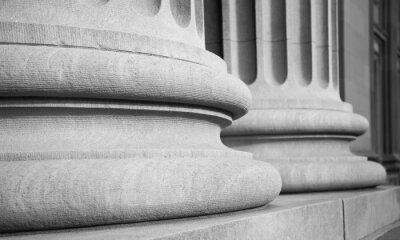 Sticker Architectural Columns in a Classic Federal Buuilding