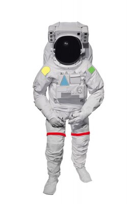 Sticker Astronaut Isolated on White Background