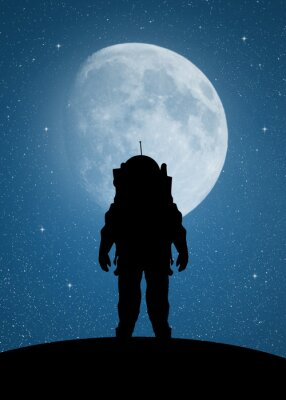 Sticker Astronaut to Mars
