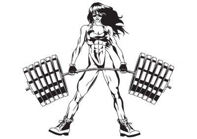 Sticker Athletic girl