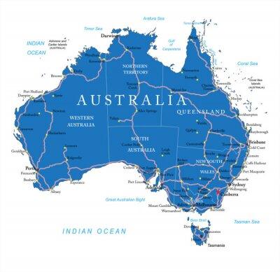 Sticker Australia road map