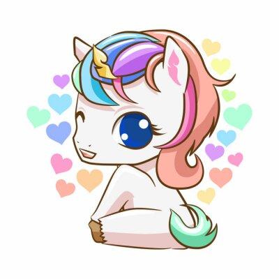 Sticker Baby unicorn cute