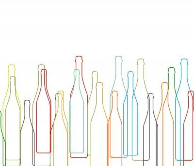 Sticker Background with bottles set