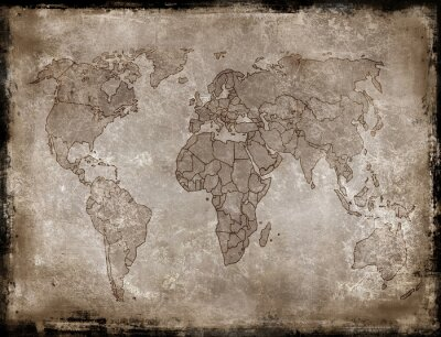 Sticker backgrounds-old map