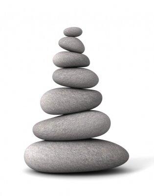 Sticker balancing stones