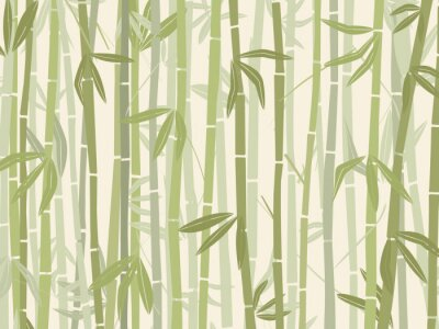 Sticker Bamboo forest