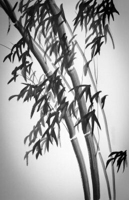 Sticker bamboo trees