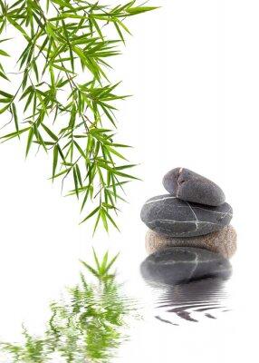 Sticker bambou et galets superposés
