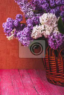 Basket with various lilac_2
