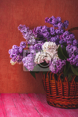 Basket with various lilac