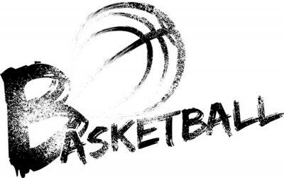 Sticker Basketball Grunge Streaks