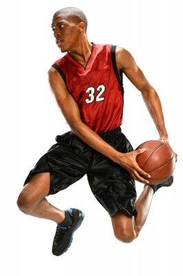 Sticker Basketball Player Dunking Ball