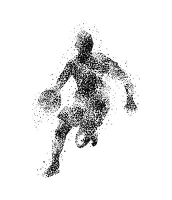 Sticker basketball player, silhouette