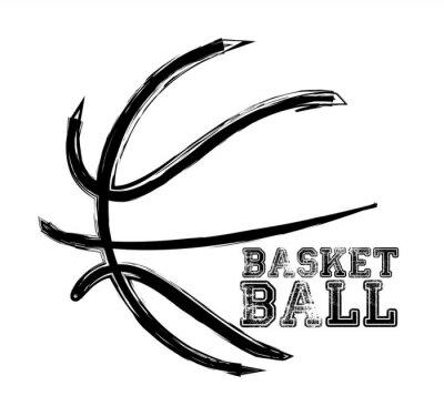 Sticker basketball sport