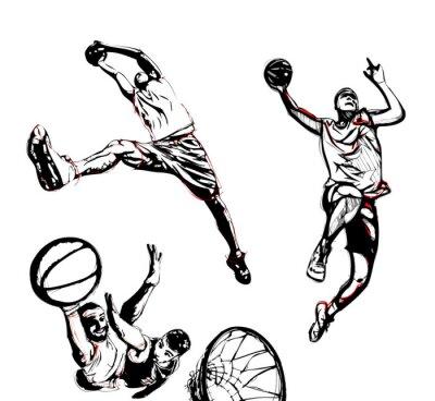 Sticker basketball trio
