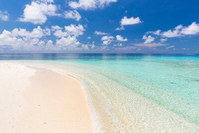 Sticker Beautiful ocean beach on Maldives