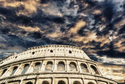 Sticker Beautiful sky above colosseum in Rome