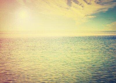 Sticker Beautiful sky and blue sea
