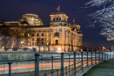 Sticker Berlin Reichstag at night
