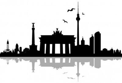 Sticker Berlin Skyline Schatten