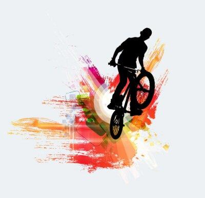 Sticker Bicycle jumper, sport background