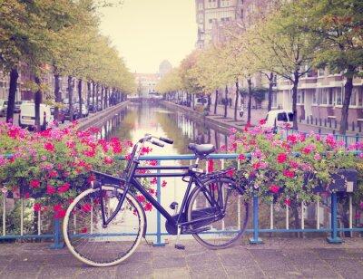 Sticker bicycle on a bridge