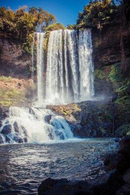 Sticker big beautiful waterfall in the park Dambri, Vietnam