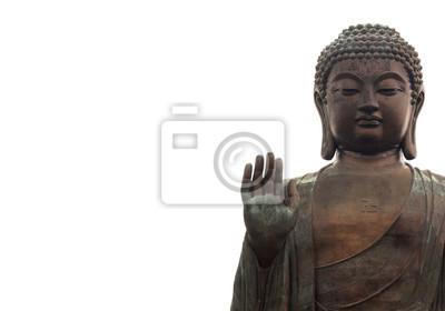 Sticker Big buddha isolated on white