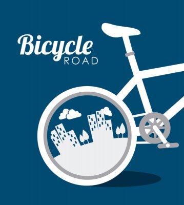 Sticker Bike design, vector illustration.