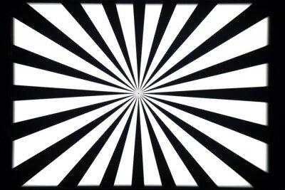 Sticker Black and white test pattern