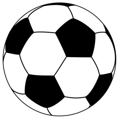 Sticker black-white fooball - simple vector illustration