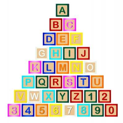 Sticker Block Letter Pyramid