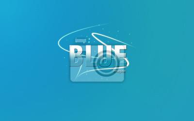 Sticker blue
