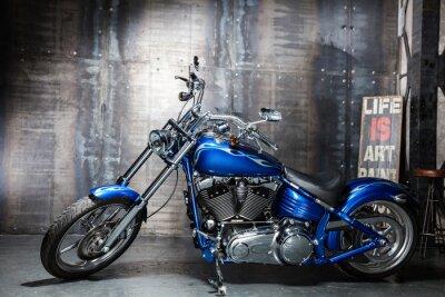 Sticker blue chrome road bike