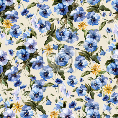 Sticker Blue flowers 5