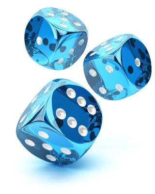 Sticker Blue transparent dices