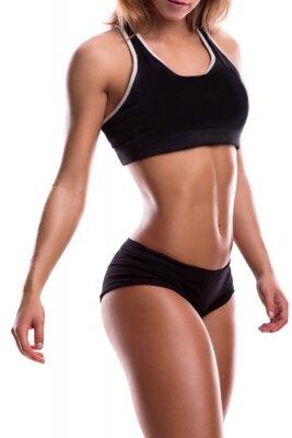Sticker Body of fitness girl