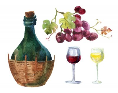 Sticker Bottles of Vine
