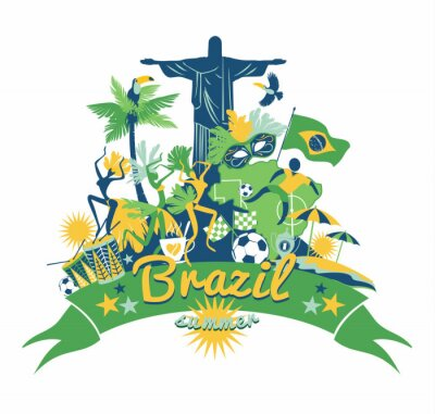 Sticker Brazil background