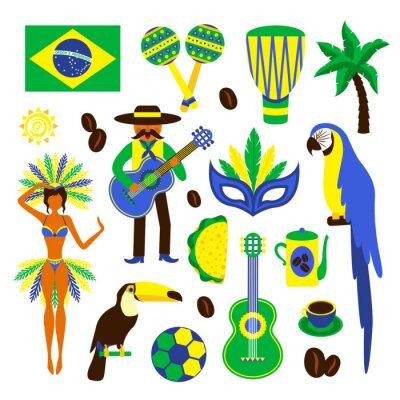 Sticker Brazil decorative set