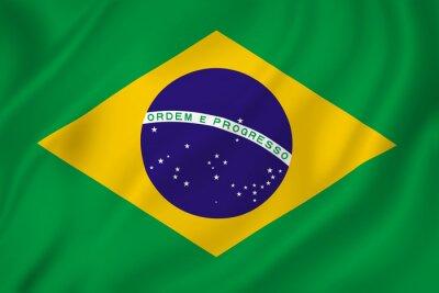 Sticker Brazil flag