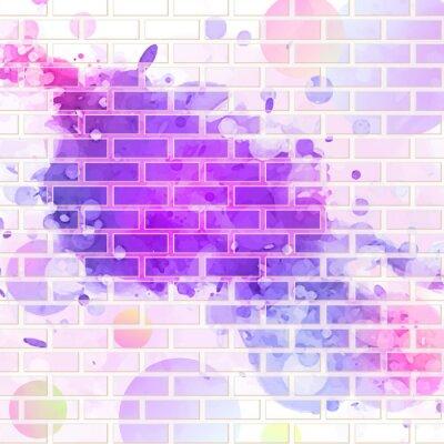 Sticker brick wall, graffiti