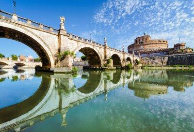 Sticker Bridge and castle Sant Angelo, Rome