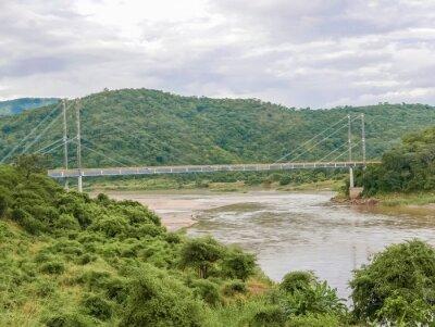 Sticker Bridge over Luangwa river in Zambia