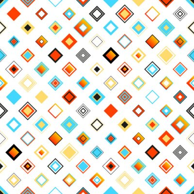 Sticker Bright Colorful Seamless Geometric Pattern With Squares