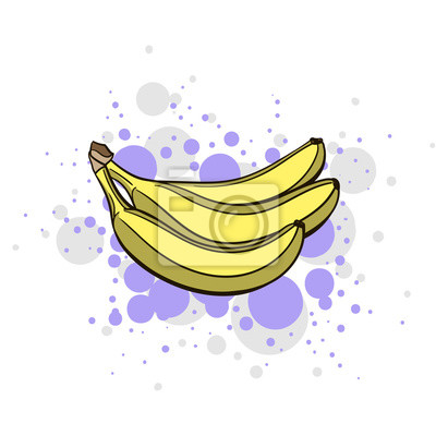 Sticker Bright Juicy Banana