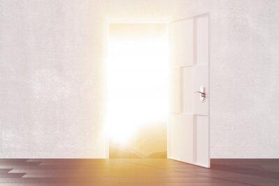 Sticker Bright light from the open door of empty room