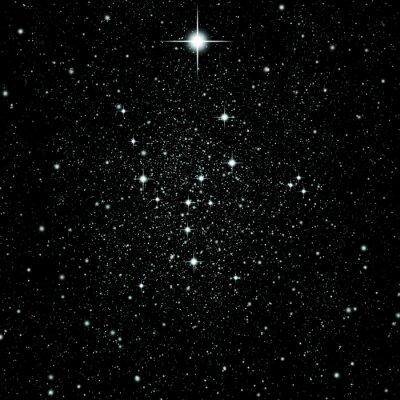 Sticker Bright stars in deep space