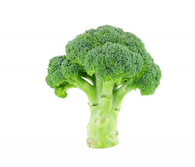 Sticker Broccoli isolate on white with clipping path