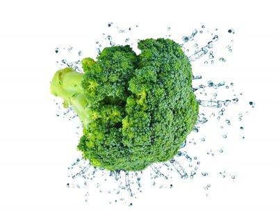 Sticker broccoli splash isolated